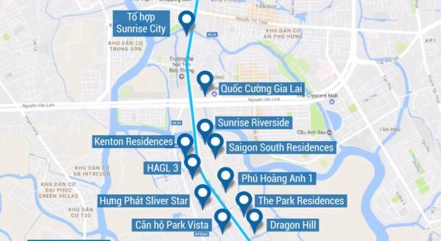 Đường Nguyễn Hữu Thọ, tuyến giao thông huyết mạch nối khu Nam với trung tâm thành phố dày đặc dự án.