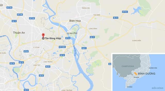 Địa điểm xảy ra vụ việc. Ảnh:Google Maps