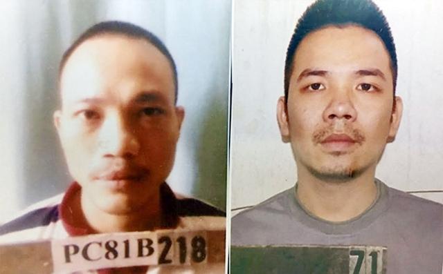 2 tử tù vừa bỏ trốn (Ảnh: CA cung cấp)