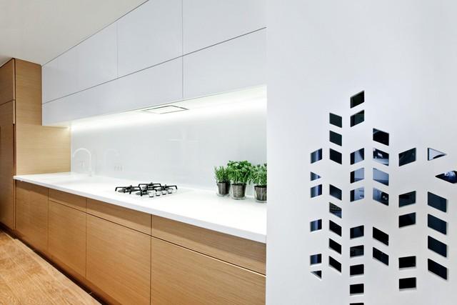 Căn hộ mang phong cách thiết kế tối giản.