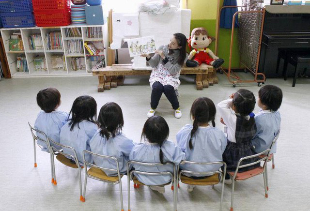 Một lớp mẫu giáo ở Nhật Bản. (Ảnh: Japantimes)
