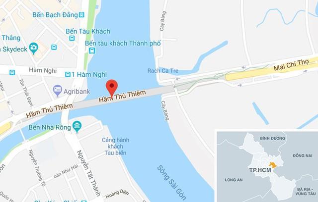 Thủ Thiêm sẽ là nơi duy nhất bắn pháo hoa tầm cao trong Tết Dương lịch và Âm lịch của TP.HCM. Ảnh: Google Maps.