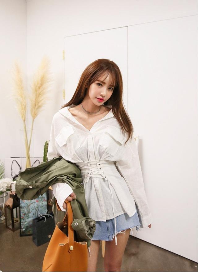 Áo liền corset – mẫu áo mới mà nàng nào mặc vào cũng eo thon tức thì