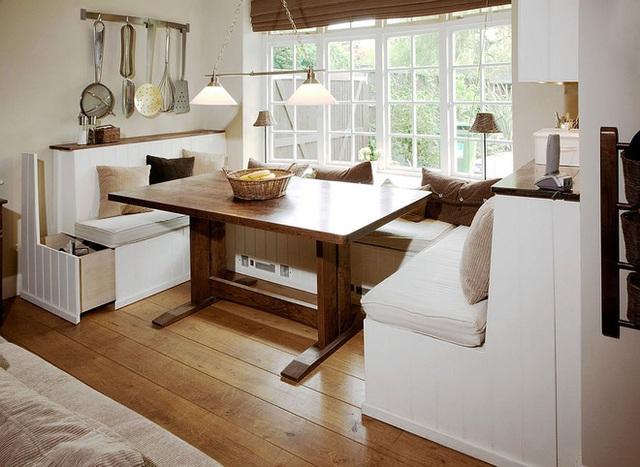 Tùy chỉnh các khu vực lưu trữ bên dưới ghế banquette.