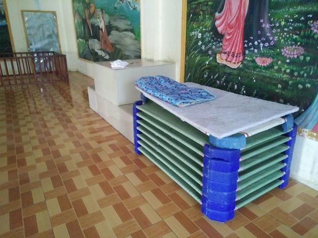 Những chiếc giường nhỏ để cho các bé ngủ nghỉ tại đây.
