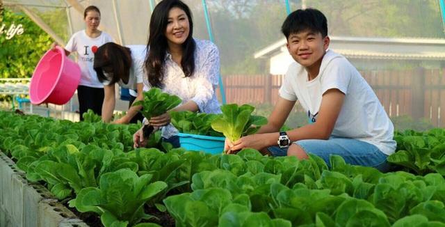 Được biết, bà thường xuyên dành thời gian chăm sóc cho vườn rau của mình và con trai bà cũng khá ủng hộ sở thích của mẹ.