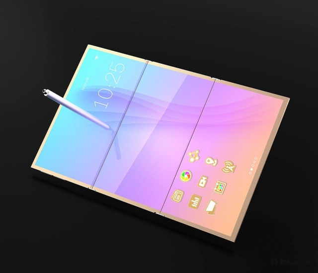 Khi mở ra, nó trở thành một máy tính bảng 10 inch.