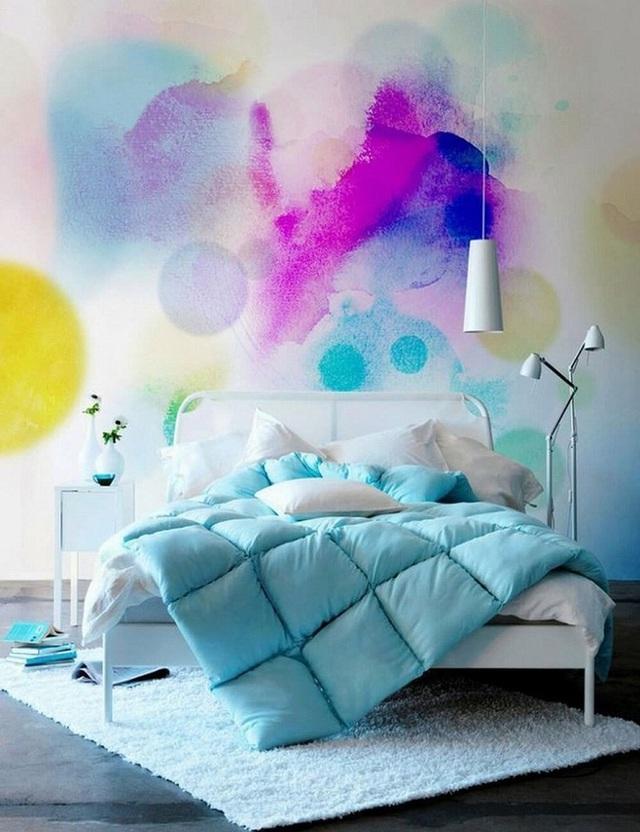 Bạn có thể mix nhiều gam màu sắc khác nhau để mang đến căn phòng vẻ sinh động đầy sức sống.