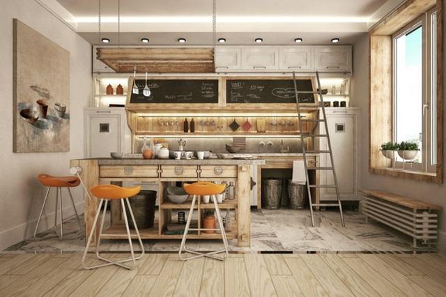 4. Nếu bạn còn nghĩ rằng phong cách công nghiệp sẽ mang đến căn bếp cảm giác lạnh lẽo thì có lẽ nó không hề đúng với căn bếp này.