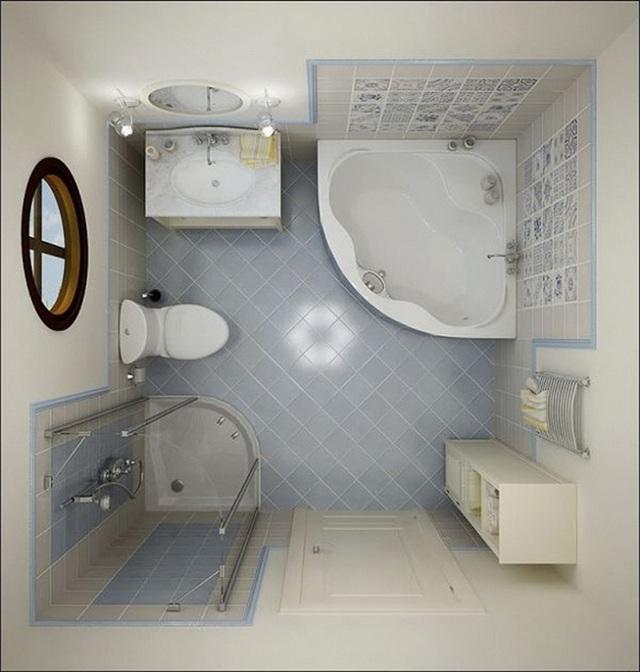 Với các không gian nhà tắm nhỏ thì việc sử dụng màu sơn tường và nền gạch sáng là điều cực cần thiết.