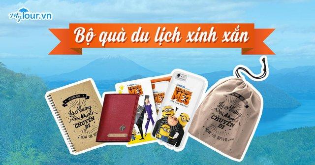 Bộ quà cực xinh do Mytour thiết kế - Ảnh: Mytour.vn