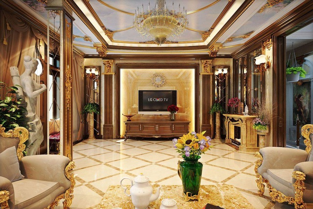Sự xuất hiện của chiếc TV OLED siêu mỏng, hiện đại ở vị trí trung tâm phòng khách mang đến sự cân bằng cho toàn bộ không gian