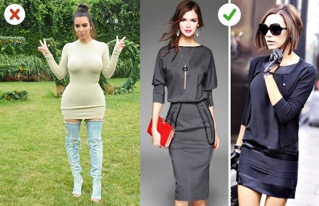 Váy liền ôm: Khi ngoài 30 tuổi, bạn nên chọn kiểu váy ôm vừa vặn với cơ thể thay vì quá bó sát. Những chi tiết như tay áo sẽ giúp cơ thể trông cân đối hơn.