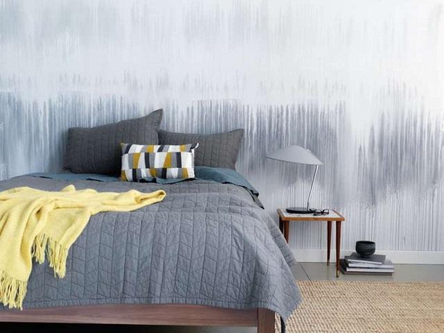 Phong cách sơn tường này rất đơn giản mà ai cũng có thể tự thực hiện được cho căn phòng ngủ của mình.