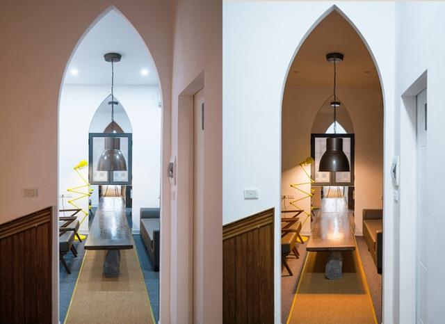 Các phòng trưng bày được thiết kế ấn tượng với mái vòm nhọn.