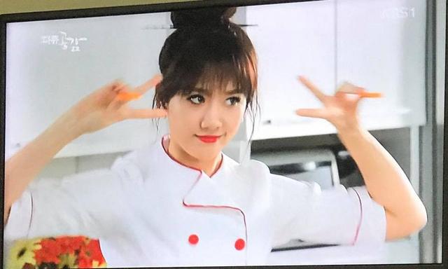 Một số hình ảnh của Hari Won trong chương trình trên đài KBS.