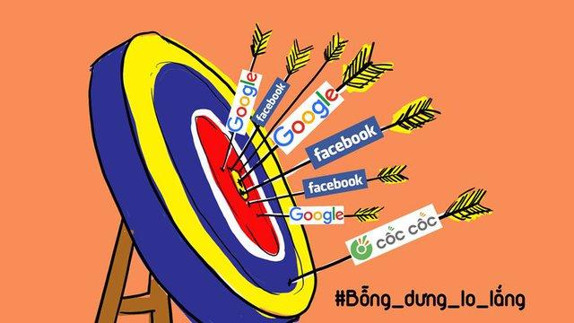 """Cốc Cốc đang vất vả cạnh tranh với những """"người khổng lồ"""" Google, Facebook trong mảng tiếp thị trực tuyến."""