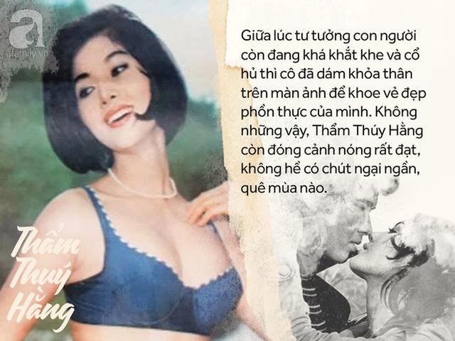 Bởi những màn khoe thân táo bạo, Thẩm Thúy Hằng được ví như Marilyn Monroe của Việt Nam.