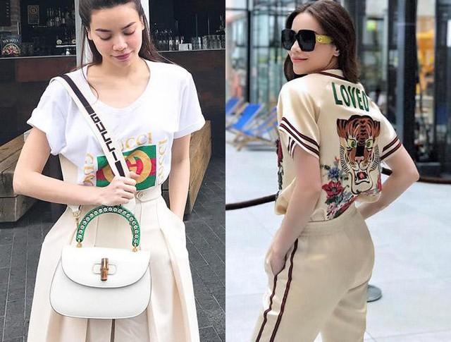 Trong giới showbiz, Hà Hồ gây ấn tượng mạnh với phong cách thời trang ấn tượng, cao cấp. Cô sở hữu nhiều dòng sản phẩm nổi tiếng như Gucci có giá giao động từ 100 - 300 triệu đồng.