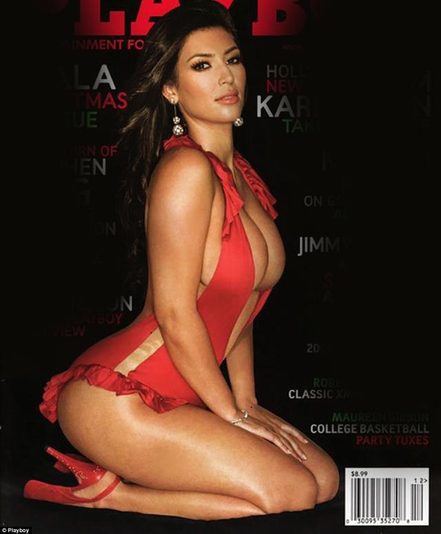 Cô Kim siêu vòng ba Kim Kardashian cũng chia sẻ ảnh chụp hình cho Playboy năm 2007. Cô cám ơn ông Hefner đã đưa cuộc đời cô từ một stylist vô danh thành người mẫu nổi tiếng và đạt vị trí cao như ngày nay.