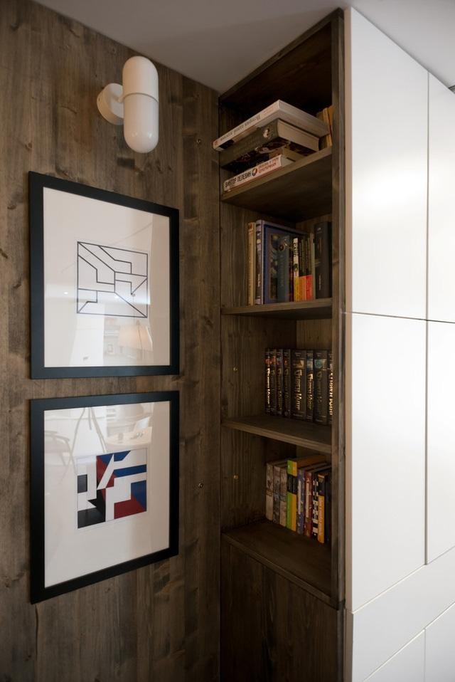 Ngay cả những góc nhỏ nhất trong căn hộ cũng được tận dụng để không lãng phí không gian.