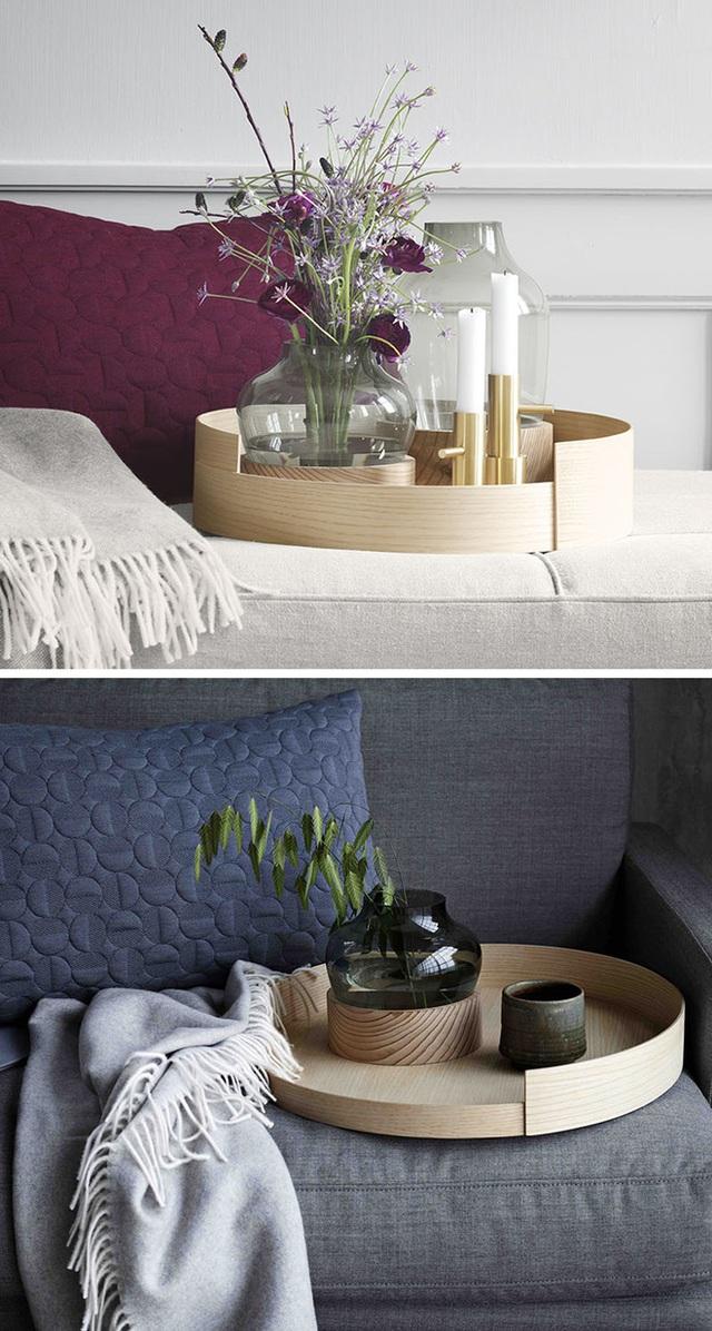 6. Chiếc đĩa gỗ được thiết kế đặc biệt dành riêng cho mục đích trang trí với đường cong tinh tế.