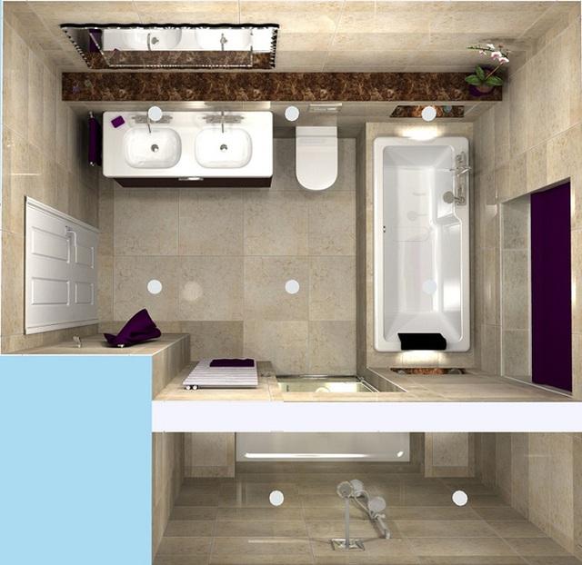 Ở thiết kế này chủ nhân ngôi nhà là người còn độc thân vì thế thiết kế ngăn cách giữa phòng tắm hoa sen và bồn tắm để khi có khách tới họ vẫn có thể sử dụng đồng thời cả hai.