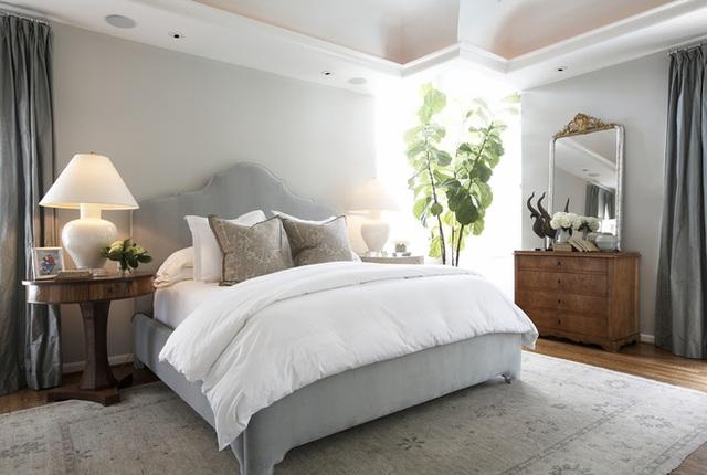 6. Trong phòng ngủ này, cây xanh vừa là điểm nhấn giúp căn phòng sống động hơn, vừa giúp chắn bớt chói sáng cho những lúc chủ nhân muốn nghỉ ngơi vào buổi sáng mà vẫn muốn tận hưởng ánh nắng.