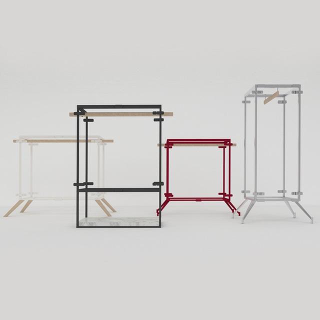 Đặc biệt hơn, chiếc tủ được cấu tạo bằng khung giữ đơn giản, chắc chắn dế tháo lắp và vận chuyển khi cần thiết.
