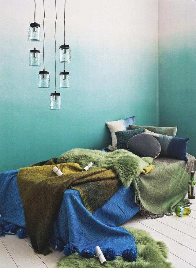 Không chỉ làm mưa làm gió trong lĩnh vực thời trang và làm đẹp, ombre cũng là một phong cách nội thất đầy ấn tượng.