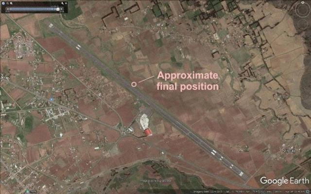 Bản đồ vị trí nơi xảy ra sự việc - Ảnh: AVH/Google Earth