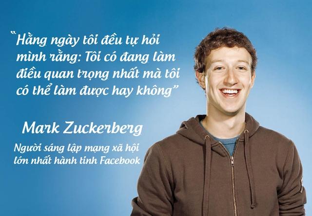 Mark Zuckerberg, người sáng lập mạng xã hội lớn nhất hành tinh Facebook.