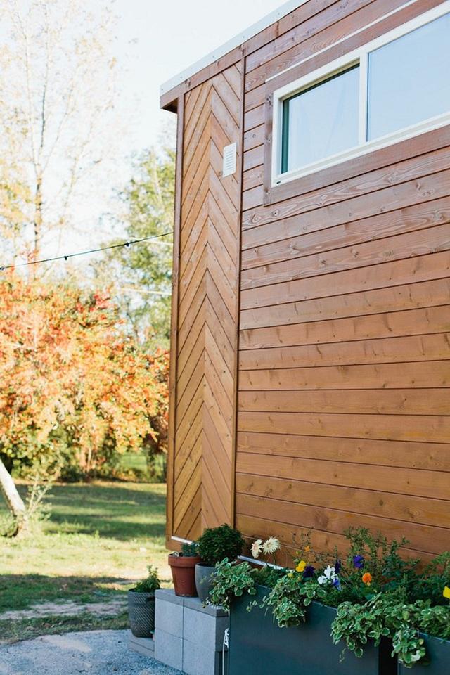 Khi nắng chiều hắt về phía ngôi nhà, khung cảnh rừng cây bao quanh càng khiến không gian nhuốm màu cổ tích và hạnh phúc.