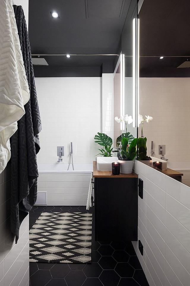 Phòng tắm cá tính và tiện nghi.