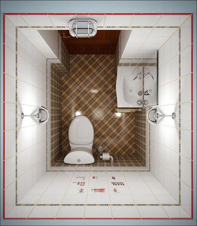 Thiết bị chiếu sáng cũng là điều cần thiết cho một không gian phòng tắm nhỏ.