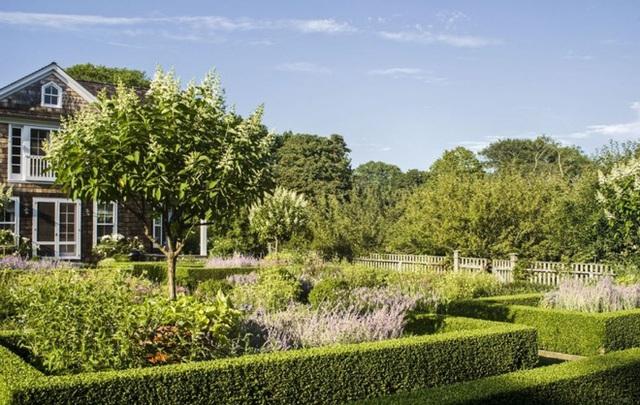 Khu vườn được bà Ina trồng rất nhiều hoa như hoa ông lão, hoa cẩm tú cầu, diên vĩ, hoa đậu, tử đằng, hoa tulip, thược dược, chuông xanh, thủy tiên, lục bình, vân anh…