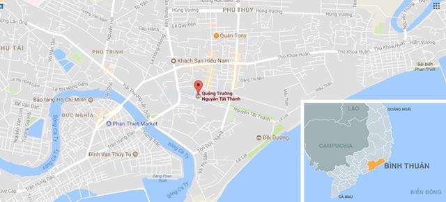 Quảng trường Nguyễn Tất Thành nơi tổ chức lễ hội Trung thu. Ảnh: Google Maps.