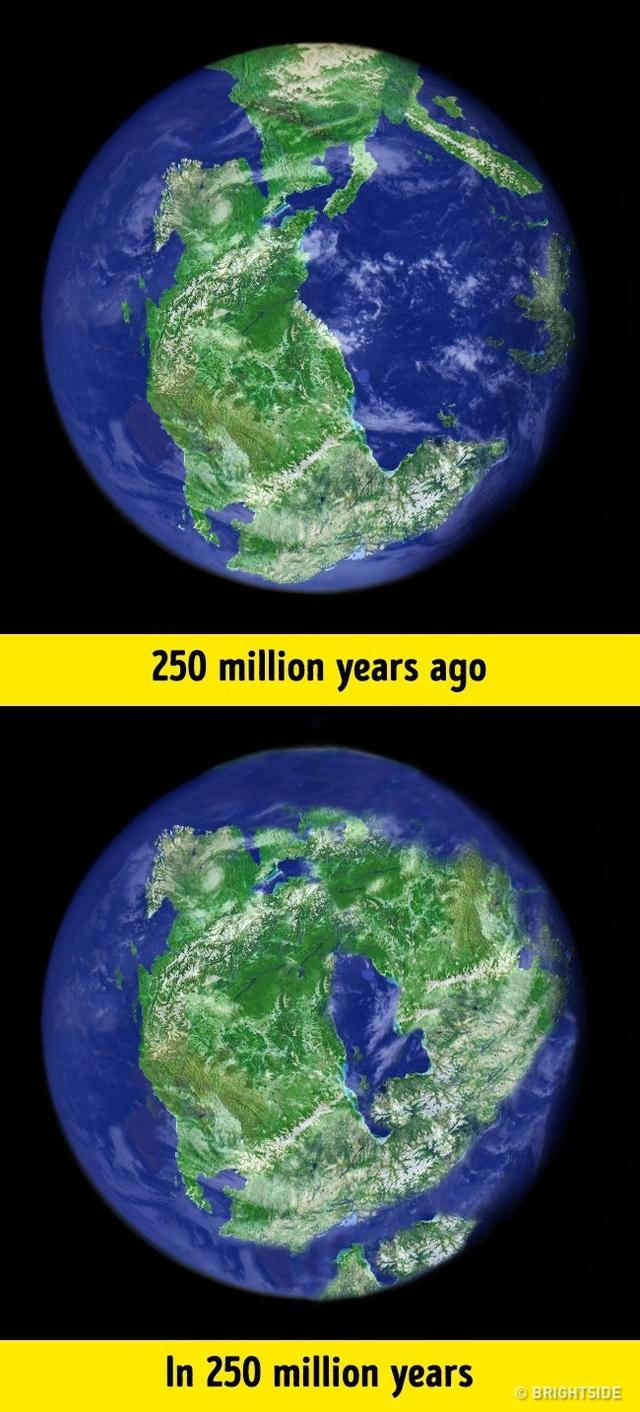Hình ảnh dự đoán khi các lục địa gộp lại sẽ trông như thế nào vào 250 triệu năm sau.