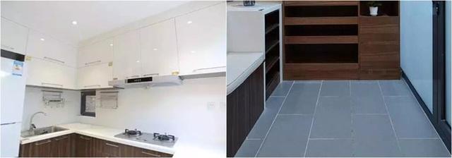 Phòng bếp ngăn nắp, rộng rãi nhờ khéo sử dụng màu trắng.