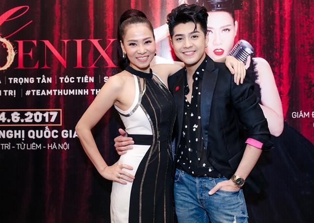 Noo Phước Thịnh bảnh bao chụp ảnh cùng Thu Minh.