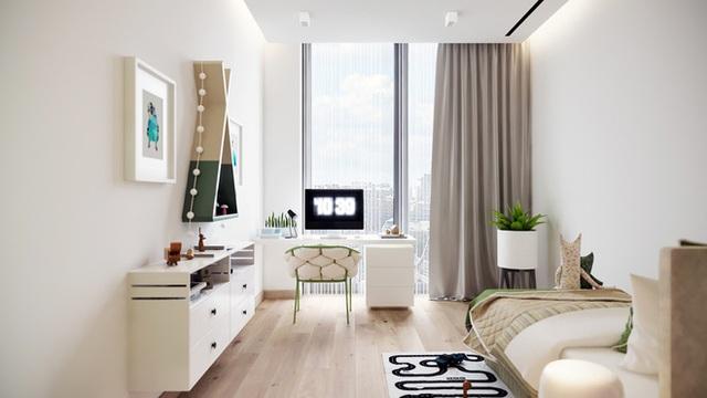 Khi phòng của con có diện tích khiêm tốn nhưng lại có lợi thế tuyệt vời, đó là ánh sáng tự nhiên ngập tràn. Bạn nên chọn cho con bảng màu trung tính. Những chi tiết trang trí từ cây xanh và phụ kiện sẽ không ngừng mang lại cảm hứng sáng tạo và sự vui nhộn cho căn phòng của bé.