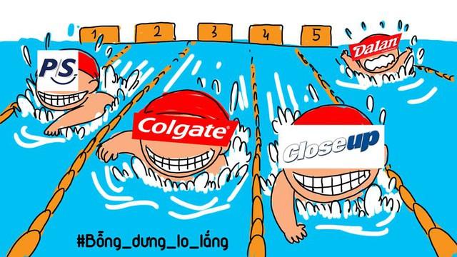 """Dạ Lan ngắc ngoải """"bơi"""" cùng các ông lớn P/S, Colgate, Closeup…"""
