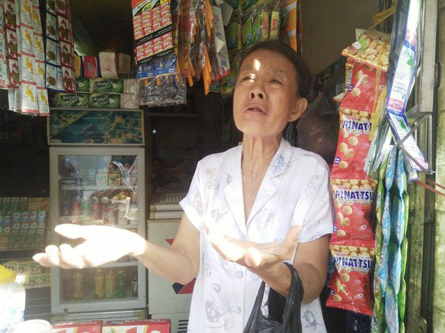 Bà Thuận vẫn chưa hết bàng hoàng kể lại sự việc xảy ra chiều hôm qua 26-11.