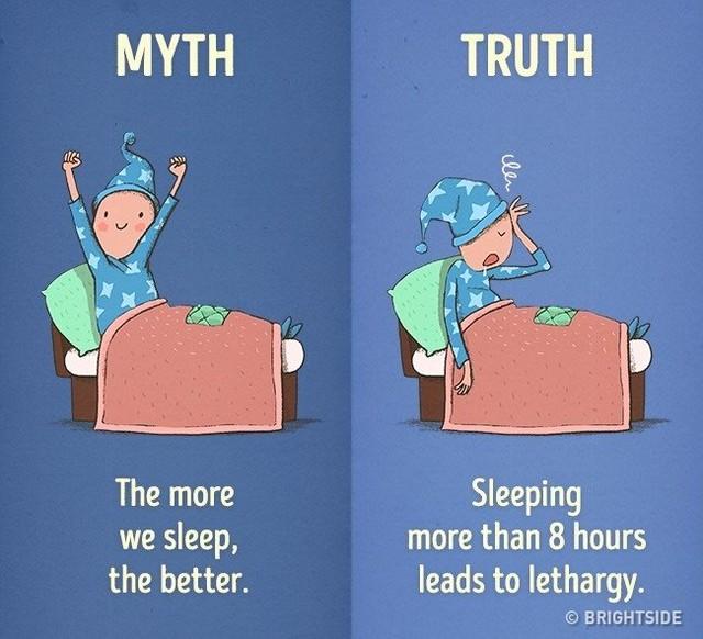 Ngủ nhiều hơn 8 tiếng khiến chúng ta luôn ở trạng thái lơ mơ, buồn ngủ