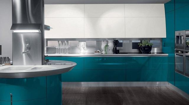 Thêm một thiết kế theo hai gam màu trắng và xanh dương hiện đại và mát mẻ giúp bạn có thêm sự tham khảo hữu ích.