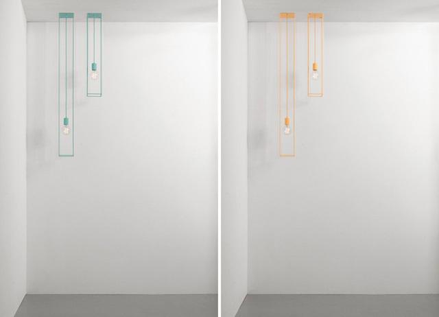 Một mẫu đèn treo tường khá độc đáo được thiết kế với cảm hứng hình học.