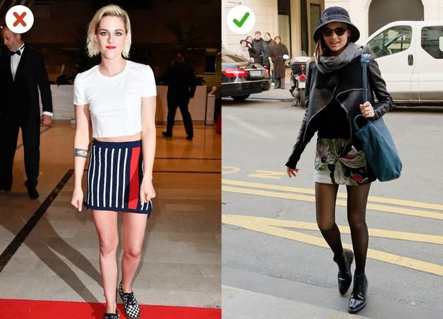 Váy mini: Phụ nữ trên 30 thường ngại mặc kiểu váy ngắn trên đùi. Nếu diện váy mini, bạn nên tránh chất liệu len hoặc dệt kim, thay vào đó hãy chọn váy dáng cứng, giấu bụng và không quá bó.