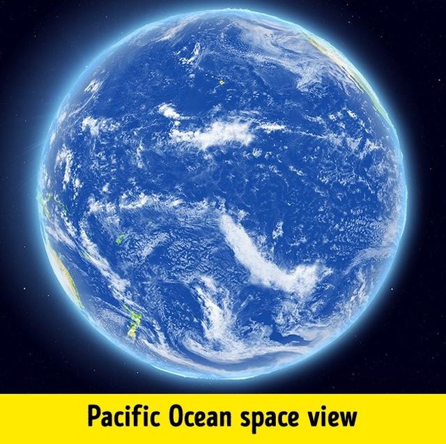 Hình ảnh Thái Bình Dương khi nhìn từ không gian