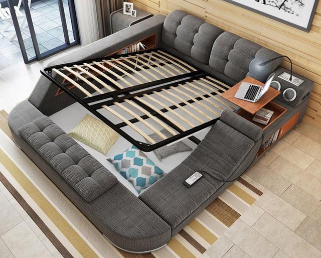 Một tính năng độc đáo nữa của giường Tatami là các khối giường có thể tách rời và bạn có thể chỉ giữ lại những khối đính kèm thực sự cần thiết nhất. Sự tùy biến của nó hẳn sẽ khiến bạn vô cùng hài lòng và bất ngờ.
