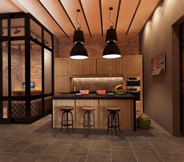 10. Bạn cũng đừng quên, những tấm gỗ lát cũng rất quen thuộc với phong cách nội thất công nghiệp.